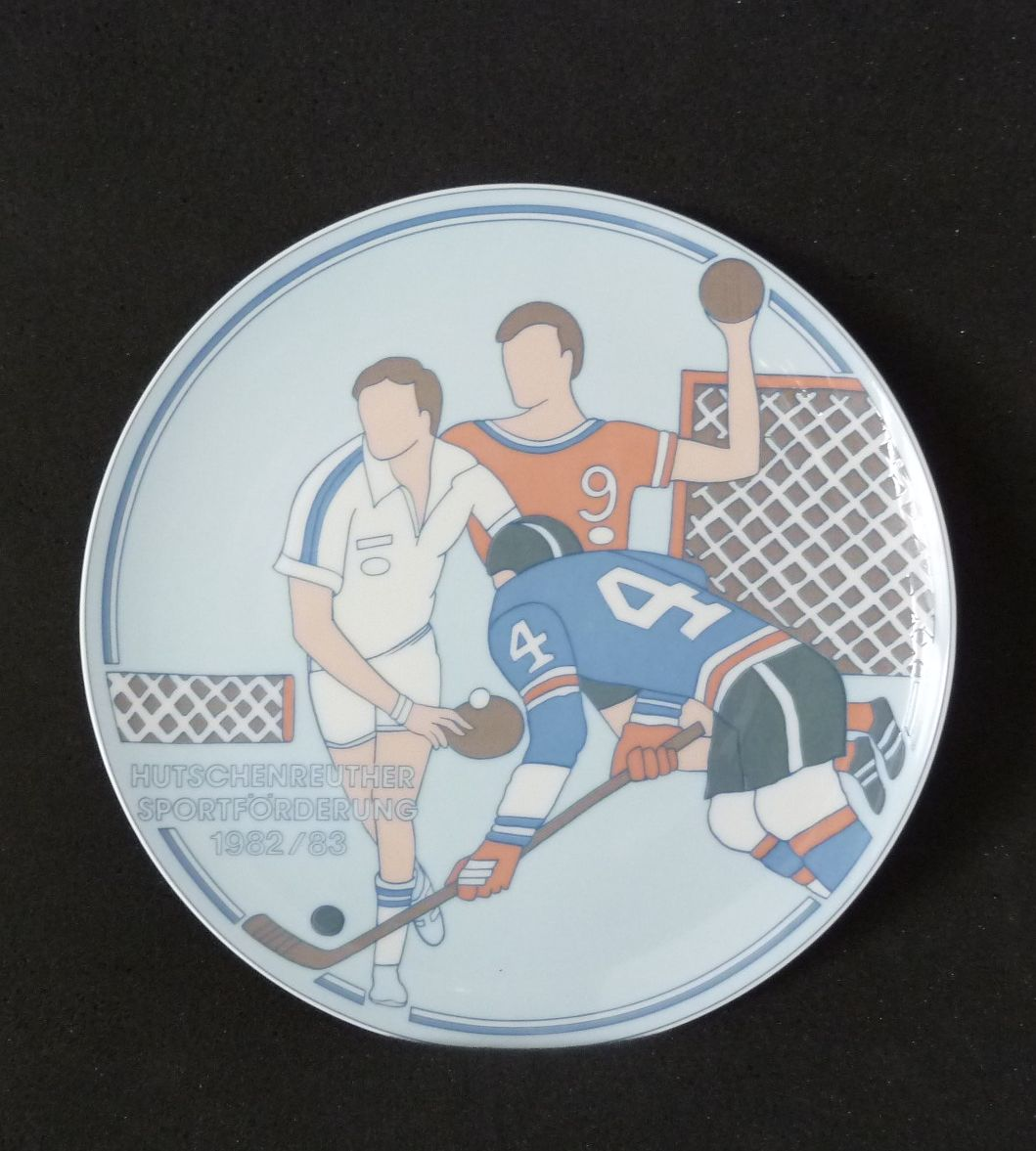 wall plate hutschenreuther sportf rderung sports promotion. Black Bedroom Furniture Sets. Home Design Ideas