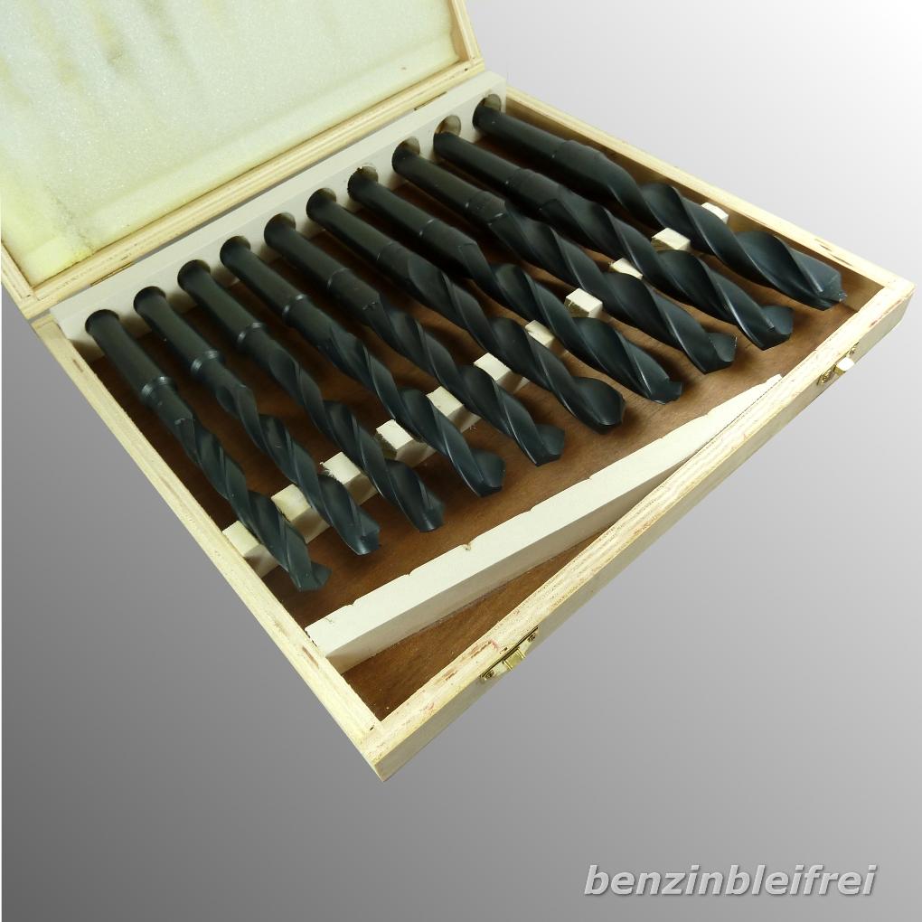 spiralbohrer hss 14 5 30mm mk2 mk3 set konusbohrer dampfbehandelt sw ebay. Black Bedroom Furniture Sets. Home Design Ideas