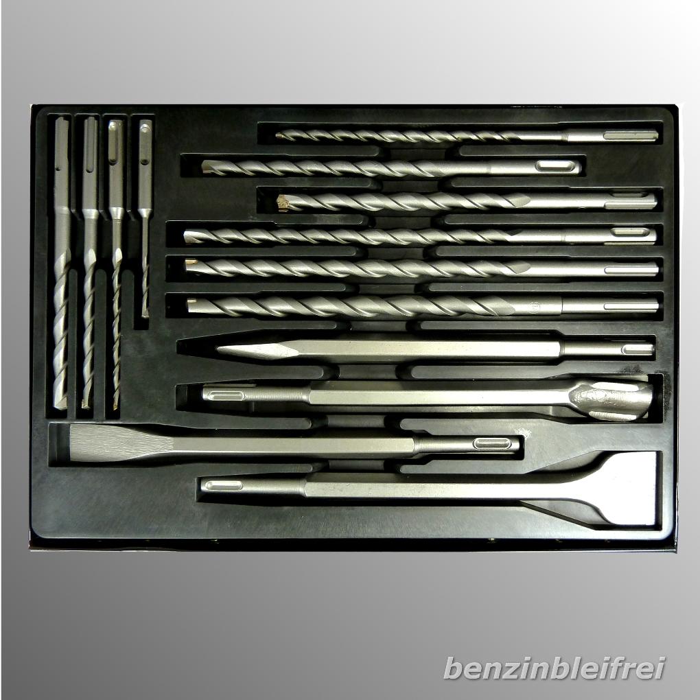 set drill bohrer 10 spiralbohrer 4 meissel aufnahme sds. Black Bedroom Furniture Sets. Home Design Ideas
