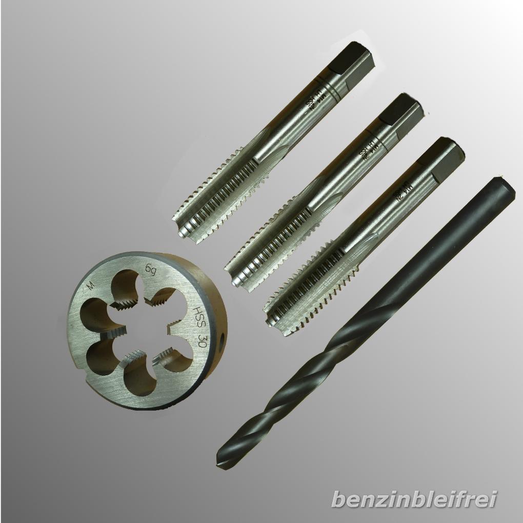 M18x2,5 Regelgewinde Gewindebohrer Schneideisen Gewindewerkzeug WS Set